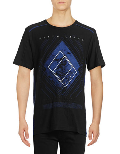 Point Zero Reveresed Graphic T-Shirt-BLACK-X-Large 88949418_BLACK_X-Large