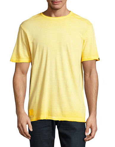 Point Zero Burn Out Stripe T-Shirt-YELLOW-Medium