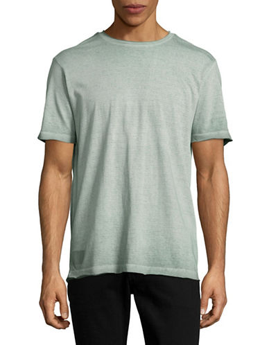 Point Zero Burn Out Stripe T-Shirt-GREEN-Medium