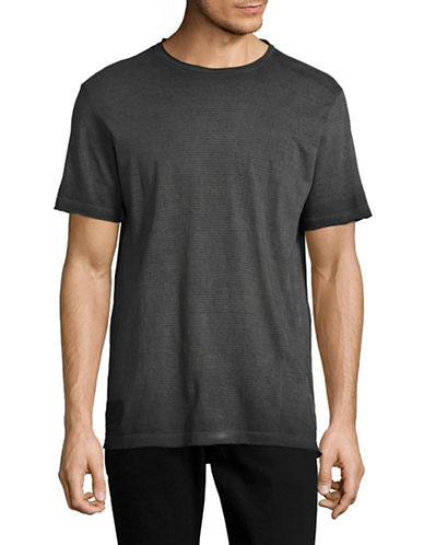 Point Zero Burn Out Stripe T-Shirt-BLACK-Small