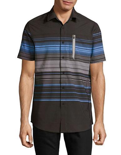 Point Zero 4-Way Stretch Sport Shirt-BLACK-Small