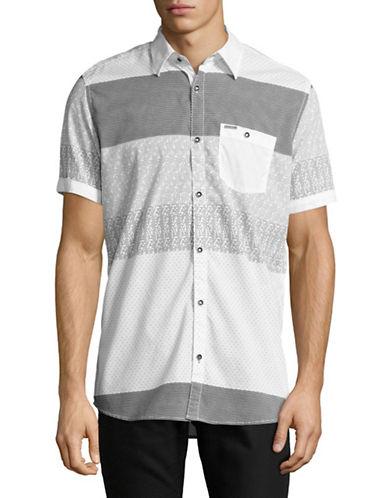 Point Zero Triangle Print Sport Shirt-NATURAL-Medium