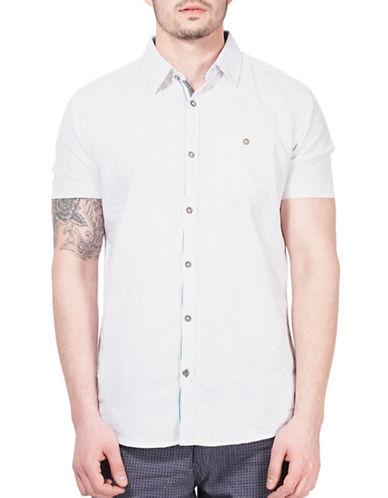 Point Zero Striped Short-Sleeve Shirt-WHITE-Large
