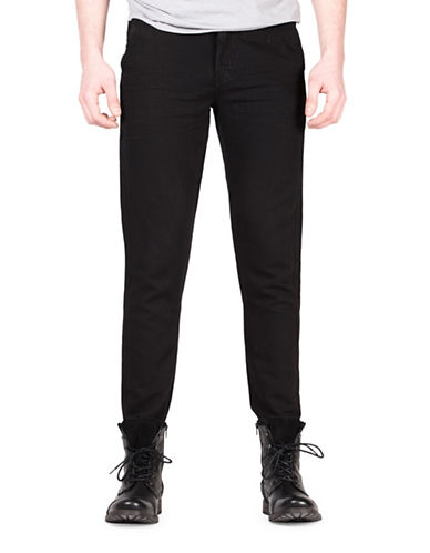 Point Zero Regular-Fit Linen-Blend Pants-BLACK-33