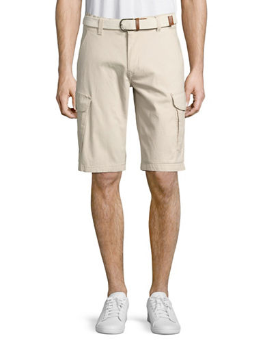 Point Zero Ripstop Cargo Shorts with Belt-YELLOW-34