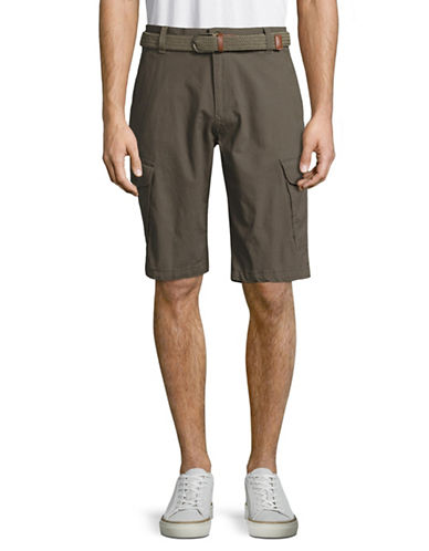 Point Zero Ripstop Cargo Shorts with Belt-GREEN-34