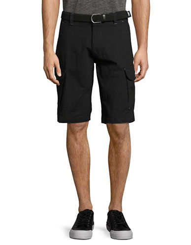 Point Zero Ripstop Cargo Shorts with Belt-BLACK-31