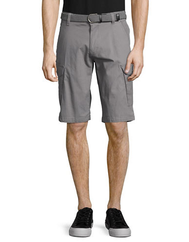 Point Zero Ripstop Cargo Shorts with Belt-GREY-33