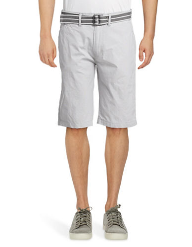Point Zero Pindot Cotton Shorts-WHITE-32