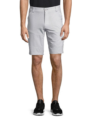 Point Zero Printed Stretch Microfibre Shorts-SILVER-36