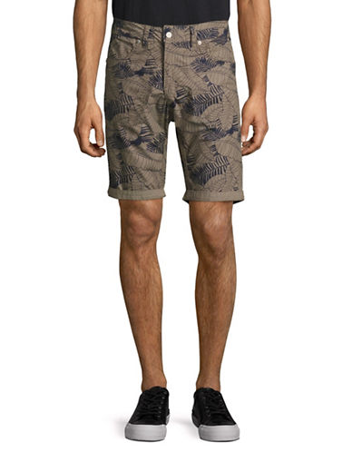 Point Zero Reversible Printed Shorts-BROWN-36