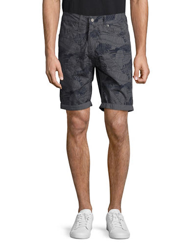 Point Zero Reversible Printed Shorts-GREY-36