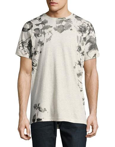 Point Zero Short Sleeve Slub Nappe Jersey Crew Neck T-Shirt-NATURAL-Medium