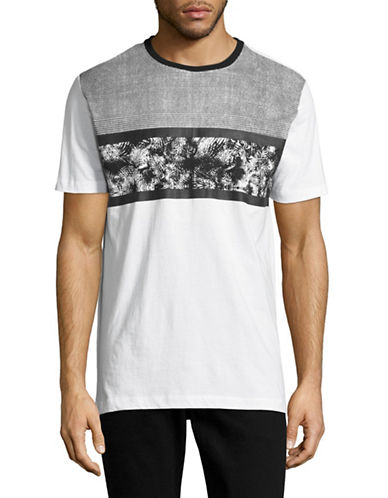 Point Zero Graphic Stripe T-Shirt-WHITE-X-Large 89071051_WHITE_X-Large