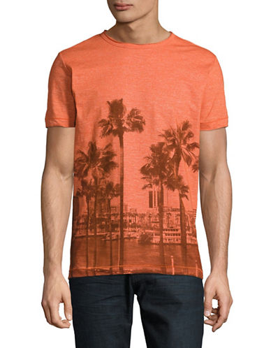 Point Zero Slub Jersey Graphic T-Shirt-ORANGE-Medium