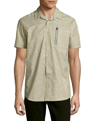 Point Zero 4-Way Stretch Floral Stripe Shirt-NATURAL-Medium
