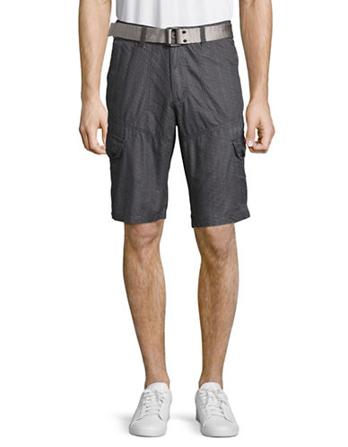 Point Zero Microfibre Deck Shorts with Belt-BLACK-38