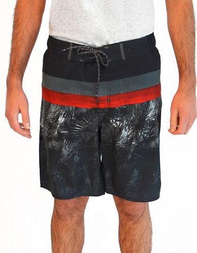 Point Zero Printed Colourblock Boardshorts-BLACK-Medium