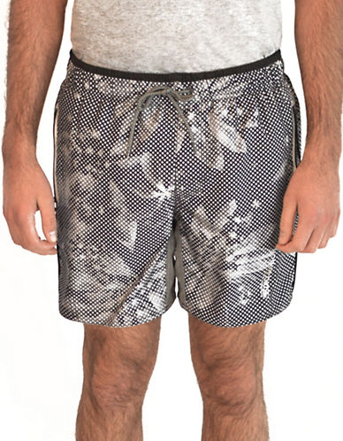 Point Zero Printed Microfiber Boardshorts-GREY-Large