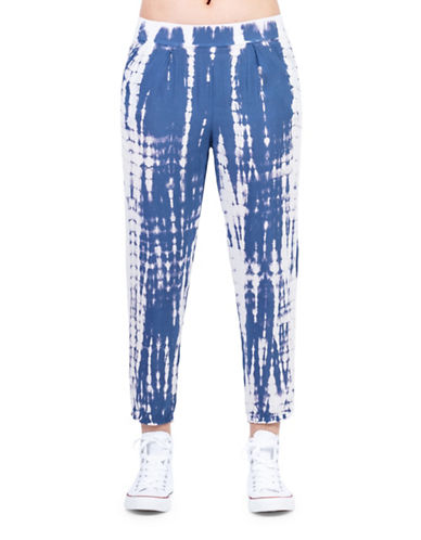 California Moonrise Tie Dye Jogger Pants-BLUE-Small