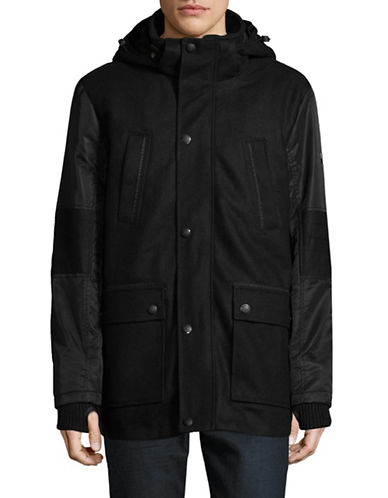 Point Zero Melton Jacket-BLACK-Medium