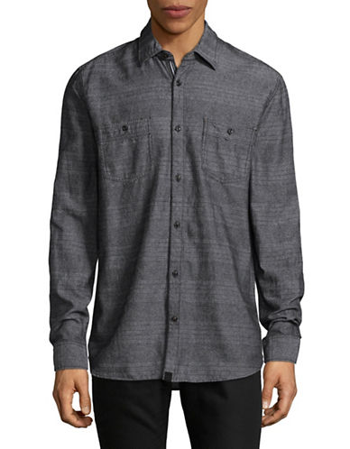 Point Zero Long Sleeve Twist Shirt-BLACK-Small