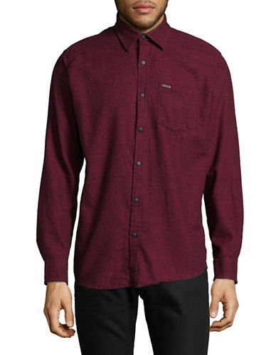 Point Zero Two-Tone Twist Sport Shirt-RED-Small