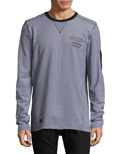 Point Zero Cube Print Long-Sleeve T-Shirt-BLACK/GREY-Small