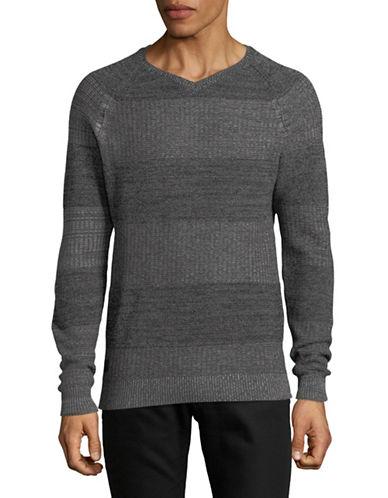 Point Zero Fine Twist Cotton Sweater-BLACK-X-Large