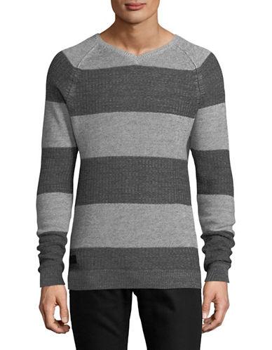 Point Zero Fine Twist Cotton Sweater-NATURAL-Small