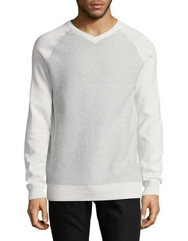 Point Zero Reversible Cotton Sweatshirt-NATURAL-Medium