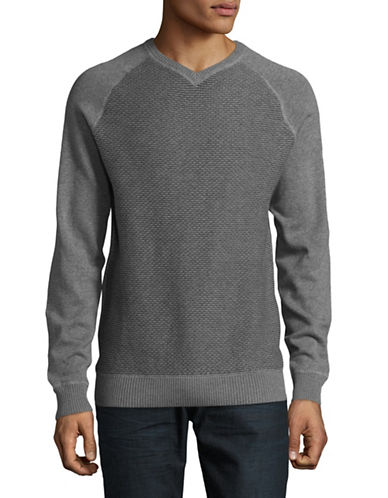 Point Zero Reversible Cotton Sweatshirt-GREY-Large