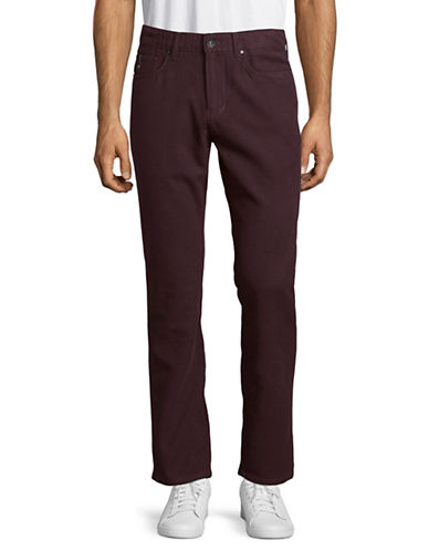 Point Zero Stretch Slim Fit Pants-RED-30