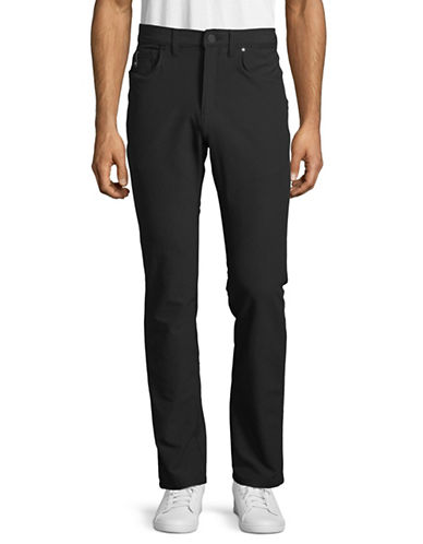 Point Zero Stretch Slim Fit Pants-BLACK-34