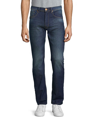 Point Zero Sam Stretch Straight-Leg Jeans-BLUE-36