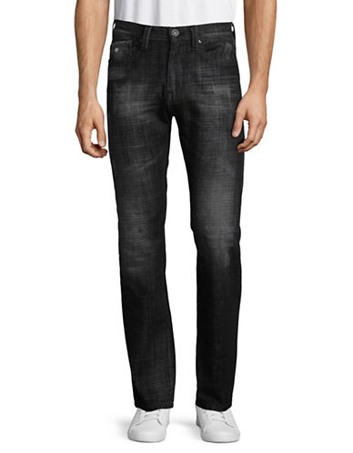 Point Zero Matt Stretch Denim Jeans-BLACK-32