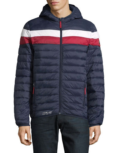 Point Zero Quilted Ski Jacket-BLUE-Small