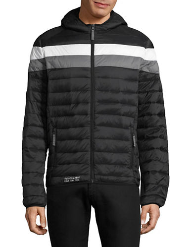 Point Zero Quilted Ski Jacket-BLACK-Small