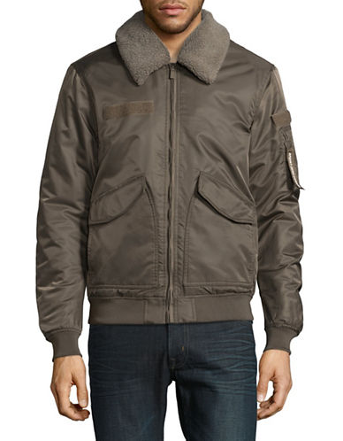 Point Zero Transition Aviator Bomber Jacket-GREEN-Medium