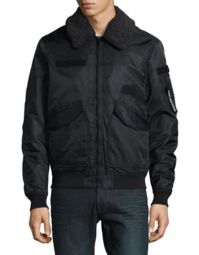 Point Zero Transition Aviator Bomber Jacket-BLACK-X-Large