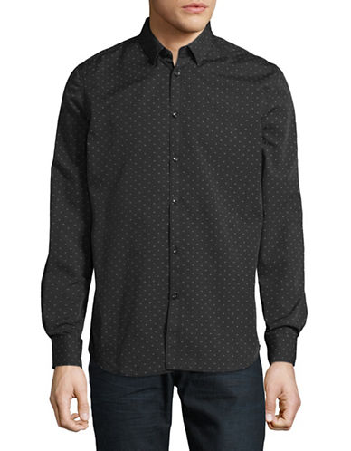 Point Zero Easy-Iron Semi-Fit Luxury Shirt-BLACK-Medium