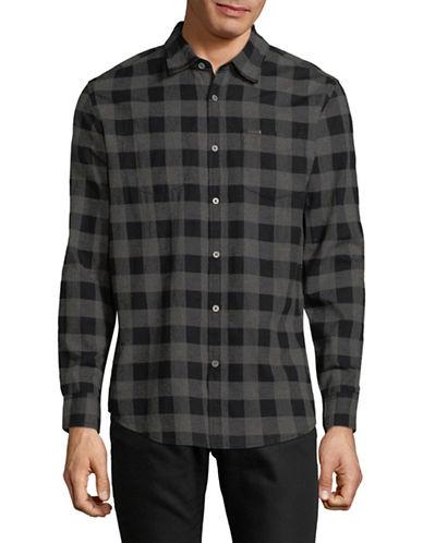 Point Zero Twist Cotton Sport Shirt-GREY-Small