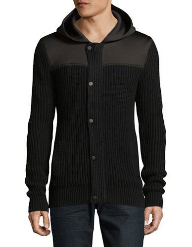 Point Zero Textured Knit Jacket-BLACK-Medium
