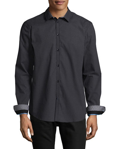 Point Zero Easy-Iron Semi-Fit Luxury Shirt-BLACK-Small