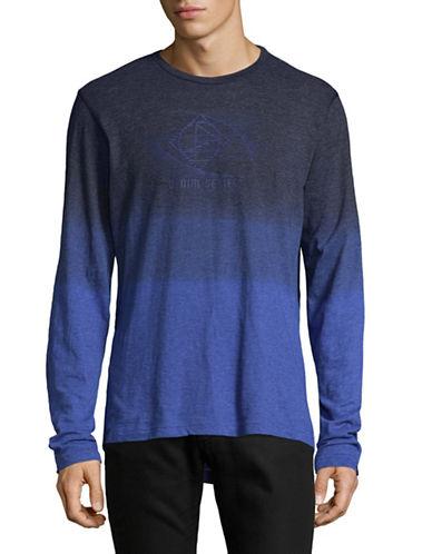 Point Zero Dip Dye T-Shirt-BLUE-X-Large