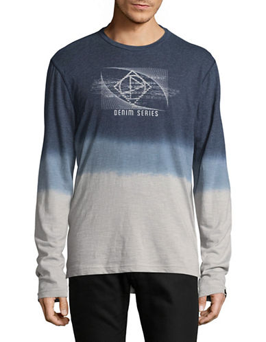 Point Zero Dip Dye T-Shirt-BLACK-Large