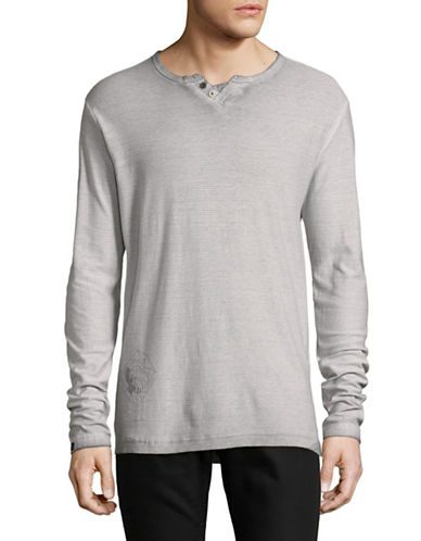 Point Zero Burnout Henley-SILVER-X-Large
