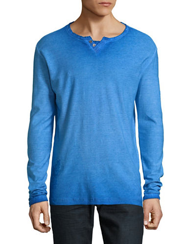 Point Zero Burnout Henley-BLUE-Medium