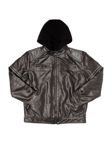 Point Zero Metallic Jacket-BLACK-Medium