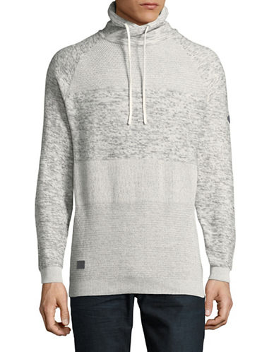 Point Zero Cotton Cowl Neck Sweater-NATURAL-Medium